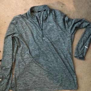 Mens Nike Dri-Fit Long Sleeve Quarter Zip